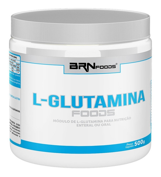 L-glutamina Foods 500g Brn Foods - S/ Juros 2x Frete Grátis!