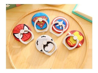 10 Pzas Anillo Sujetador Celular Super Héroes iPhone Android