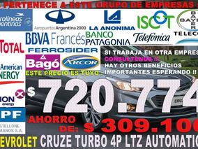 Chevrolet Cruze Automatico 4 Puertas Venta A Empleados Desde
