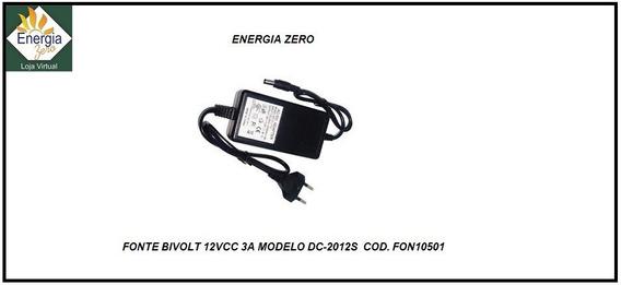 Fonte 12v 3a Md. Dc2012s Con. P4 Bivolt Cod. Fon10501