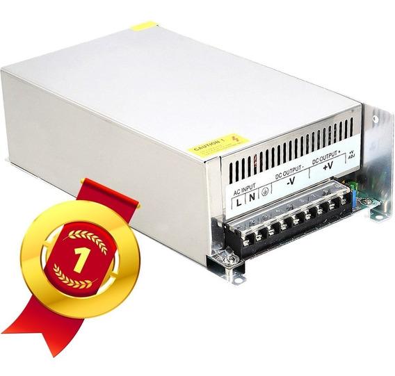 Fonte Chaveada Estabilizada 12 Volts 80 Amperes 960w Potência Para Som Automotivo Fita De Led Modulo Câmeras Cftv Tv