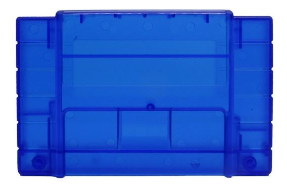 Case Carcaça De Cartucho Super Nintendo Snes - Novo - Azul