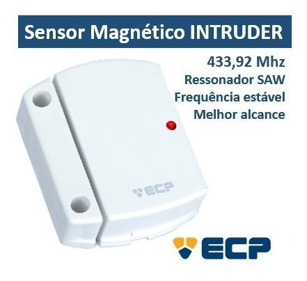 Sensor Magnético Sem Fio Intruder Ecp 433,92mhz C/ Bateria