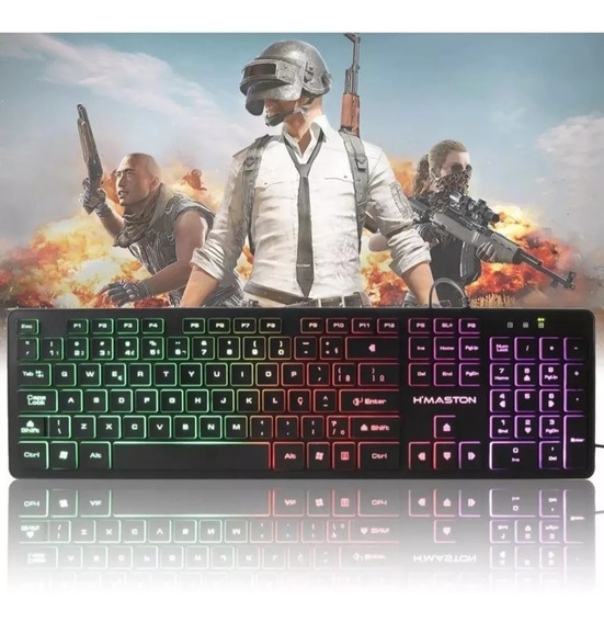Teclado Gamer Semi Mecanico Usb Pc Computador Luminoso