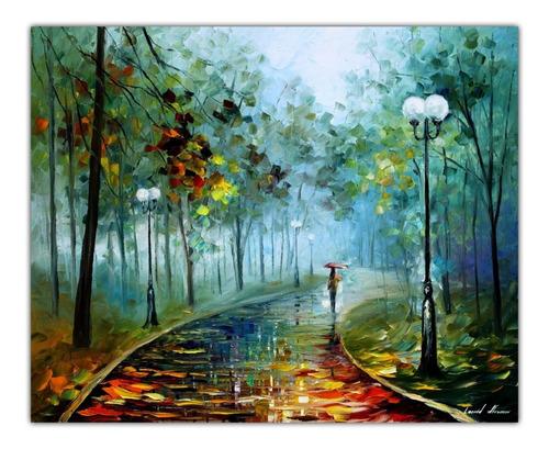 Gravura Para Quadro Afremov 50cmx50cm Obra Neblina Da Paixão