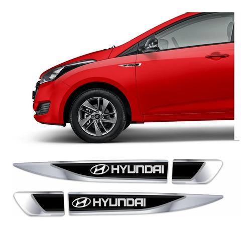 Adesivo Aplique Lateral Hyundai Hb20 Emblema Resinado Res76