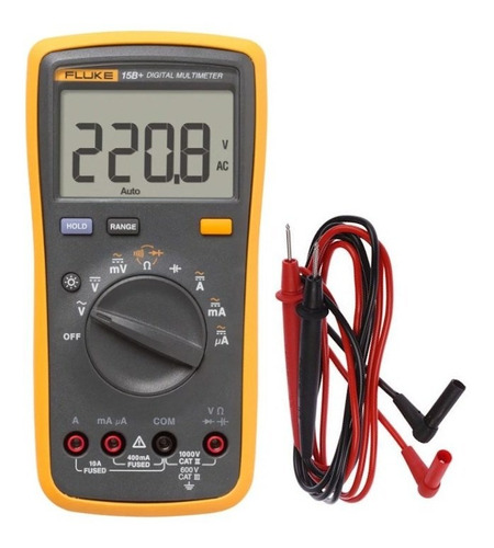 Multímetro Digital 400/1000v Ac/dc Cat Ii 15b+ Fluke