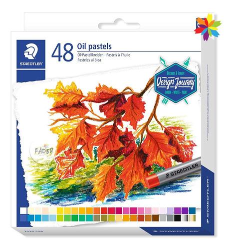 Imagen 1 de 2 de Pasteles Oleo Staedtler Oil Pastel 48 Colores