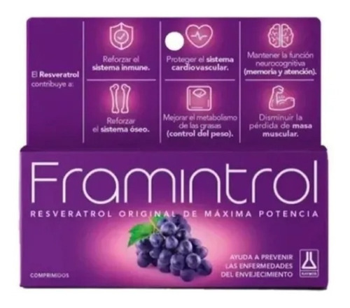 Framintrol Resveratrol X 60 Comprimidos