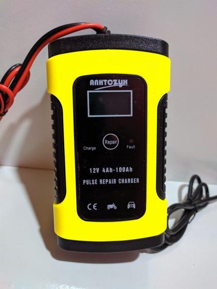 Carregador De Bateria Digital Para Carro E Moto Portatil Bivolt