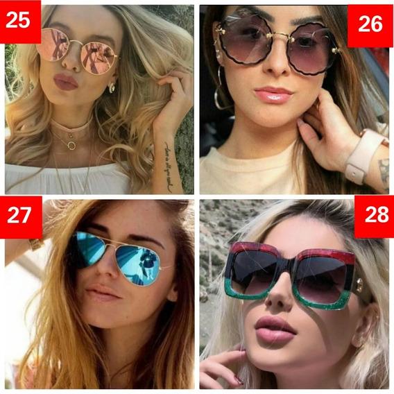 Kit 10 Óculos De Sol Feminino Tendencia Revenda Oferta Lindo