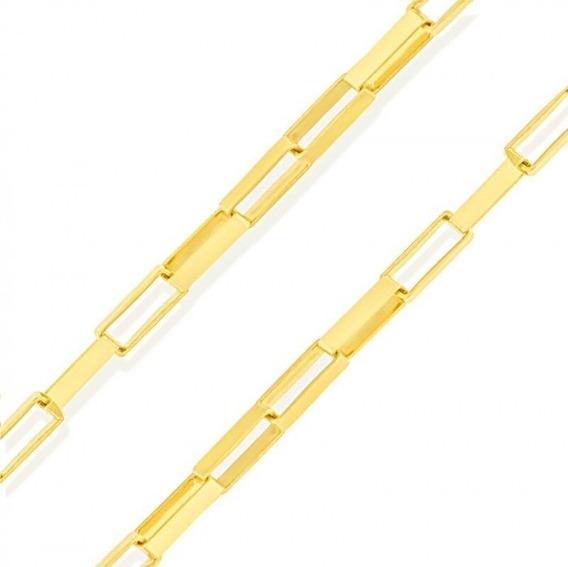 Corrente Cordão De Ouro 18k 750 50cm Quadrado Masculino Feminino Cordão De Ouro 18k