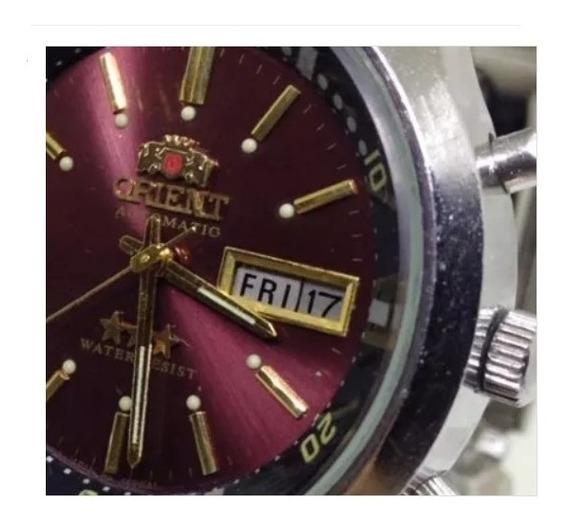 Relógio Pulso Orient Três Pinos Automático U01552 Webclock