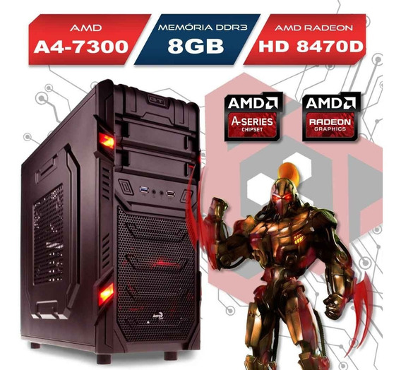 Computador Gamer Gt Amd A4-7300 Ram 8gb Hd 500gb Wifi