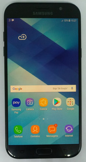 Samsung Galaxy A7 2017 Preto A720f/ds 32gb Vitrine Burn-in