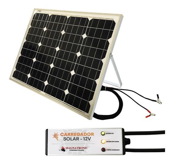 Sistema Solar Para Carregar Bateria Carro Moto 12v Portátil