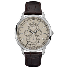 Relógio Guess Masculino Prata/marrom 92652g0gdnc1