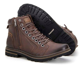 Bota Coturno Freeway Masculina Couro Chocolate Absolut1 3156