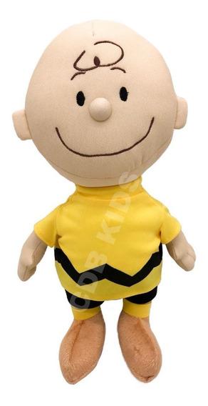 Boneco Charlie Brow Pelucia Snoopy Amigo 30 Cm Anti Alérgico