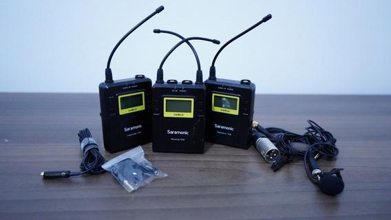Microfone Lapela 2 Transmissor E 1 Sem Fio Saramonic Tx9