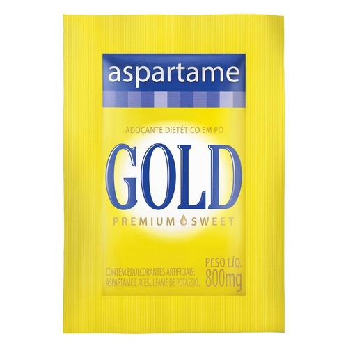 Adoçante Gold Aspartame em pó  sem glúten 800 g 1000u
