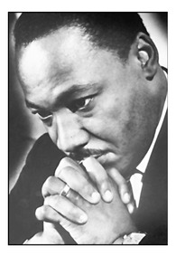 Quadro Decorativo Martin Luther King Foto 42x29cm