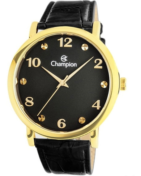 Relógio Masculino Champion Cn20659p Couro