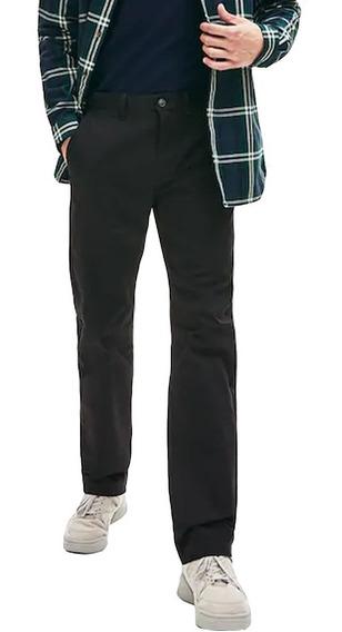 Pantalón Hombre Lacoste Clásico Regular Fit Gabardina Negro