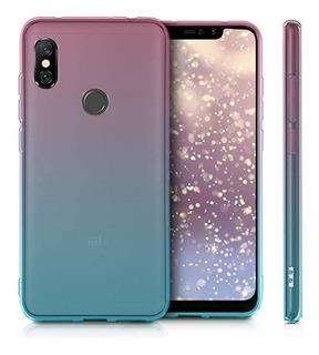 Funda Para Celular Samsung Y Xiaomi Esquinas Reforzadas Compatible Con Vidrios Templados Color Combinado Traslucida