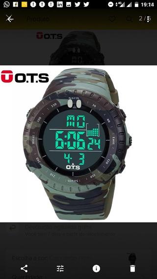 Relógio Ots Estilo Militar Camuflado Original