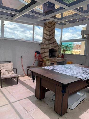 Cobertura Com 2 Dormitórios À Venda, 104 M² Por R$ 423.000 - Parque Novo Oratório - Santo André/sp - Co0355