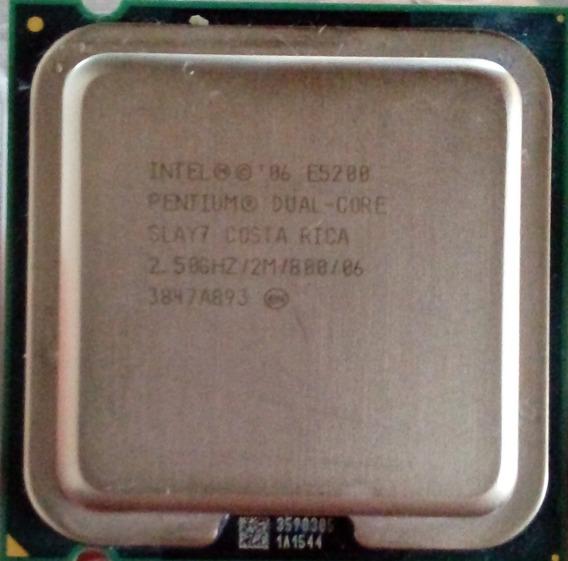 Processador Intel Pentium E5200 775 2m 2,5ghz 800mhz
