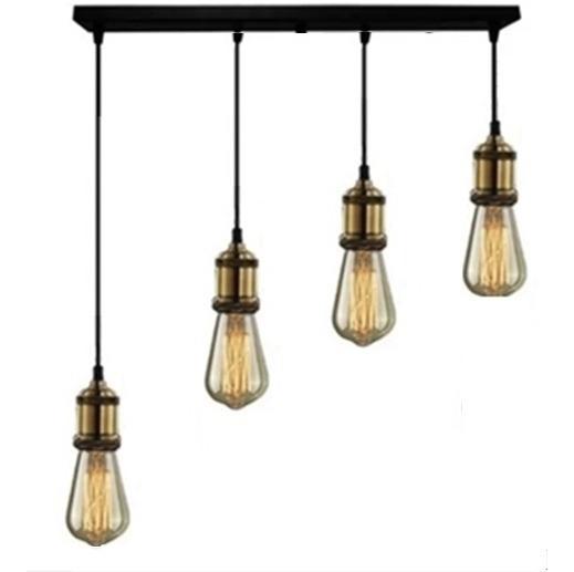 Pendente Barra Multi+ Lampadas Retro Vintage