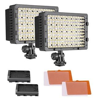 Neewer 2pack 160 Led Cn160 Regulable Ultra High Power Panel