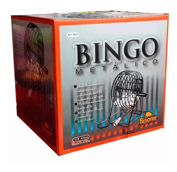 Bingo Loto Lotería Bolillero Metalico Juego De Mesa