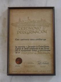 Titulo Antigo Espanhol - Testimonio Peregrinacion Jerusalem