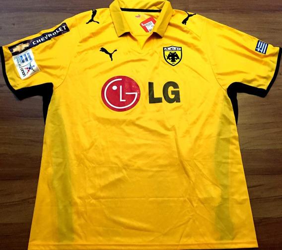 Camisa Aek Liga Grega Kyrgiakos #25 Completa Rara