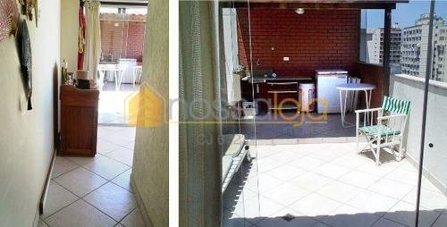 Imagem 1 de 6 de Excelente Cobertura Duplex, Próximo Campo São Bento E Praia, Sala, 4 Qtos, Ste, 2 Banho, Copa Coz, Terraço, Banho Emp. E 2 Vagas. - Co0196