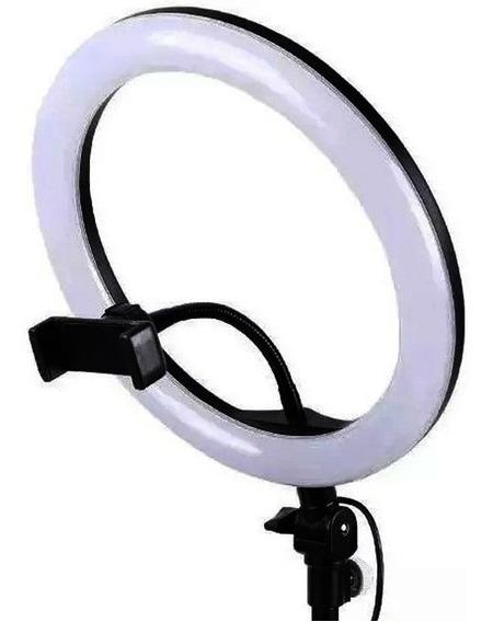 Iluminador Ring Ligth Anel Luz 26cm Mak Fotos Com Tripé 1.60