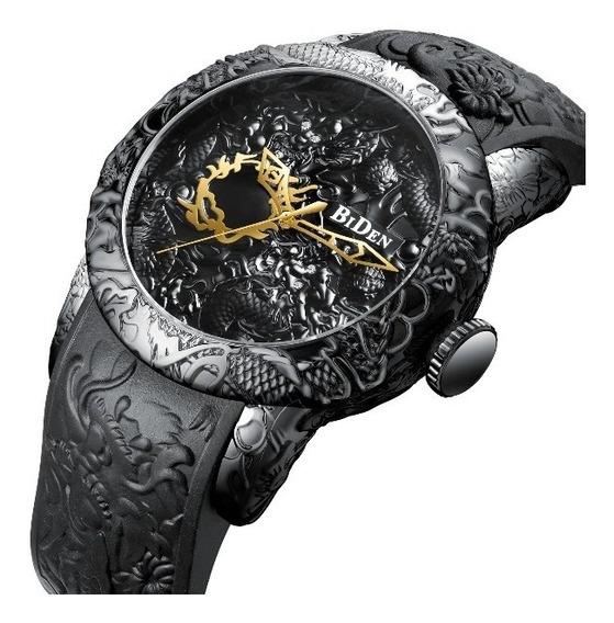 Relógio Masculino Luxo Biden Dragon A Prova D