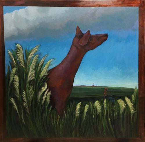 Cuadro Pintura Original - Mirada Al Camino