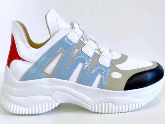 Tênis Casual Chunky Sneaker Sola Alta Flatform Inspirations