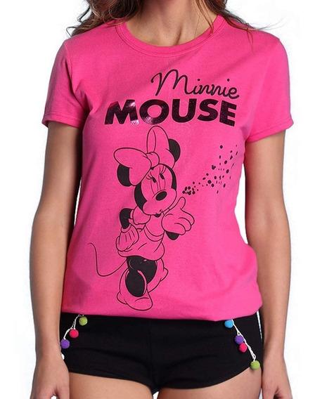 Pijama Para Mujer Disney Minnie Mouse Blusa Short 8064