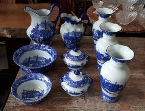 Jogo De Porcela Inglesa Porcelana Victoria Ware Ironstone 9p