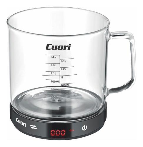Balanza Cocina Digital 5kg Recipiente Vidrio Cuori | Xenex |