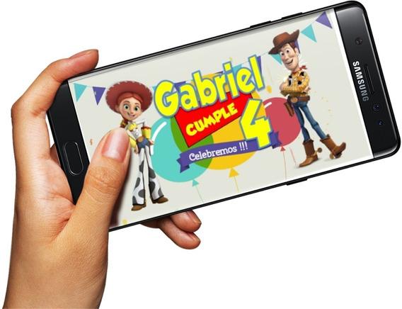 Invitación Digital En Video, Pide Cualquier Tema, Toy Story