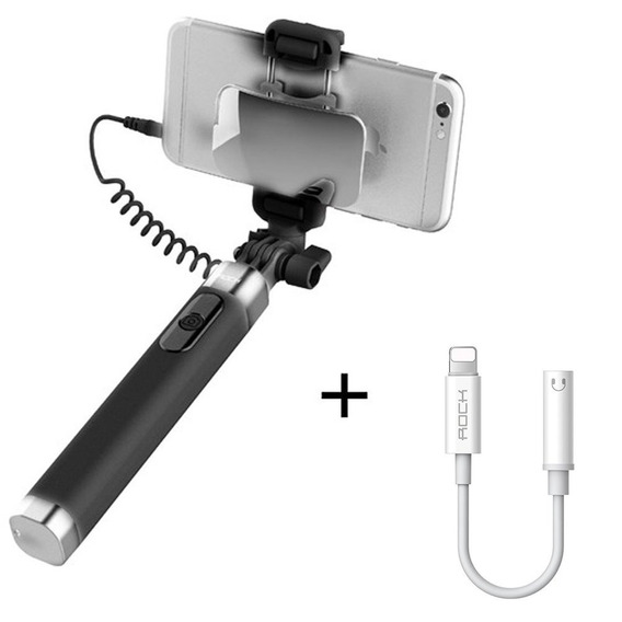 Pau De Selfie Rock Plug P2 Adaptador iPhone Xs/x/xr/max/8/7