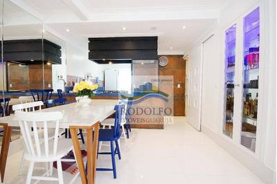 Guarujá Tombo, Reformado, 3 Dormitórios, Suite, 83 Mts Uteis, 1 Vaga, Lazer. - Ap0110