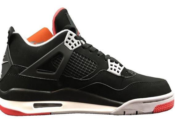 Tenis Nuevos Negros Nike Air Jordan 4 Retro Aj4 Originales
