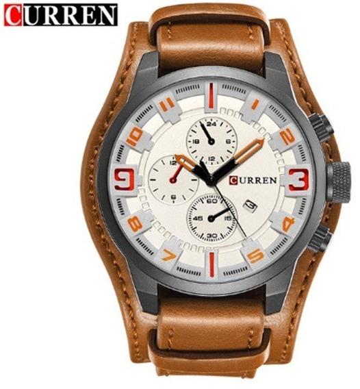 Relógio De Pulso Masculino Curren 8225 Original + Caixa